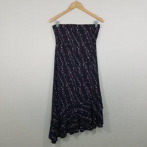 New York & Company Strapless Asymmetrical Dress M